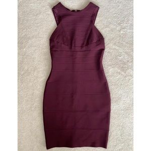 Akira Burgundy Bandage Dress